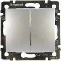 Двухклавишный проходной выключатель  Legrand Valena 774408 белый