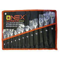 Набор ключей, Onex OX-233, набор рожковых ключей, рожково накидные ключи, набор гаечных ключей, 12 шт.