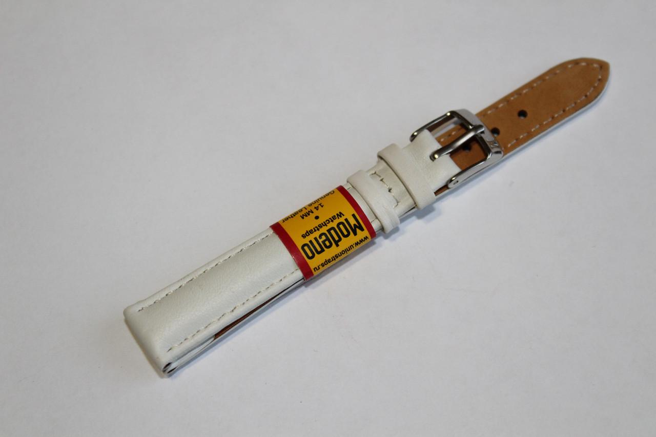 Ремешок для часов Modeno-кожаный ремень для часов белого цвета 14 мм.