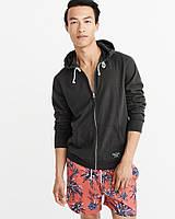 Мужская черная кофта с капюшоном популярного американского бренда  Abercrombie & Fitch, фото 1