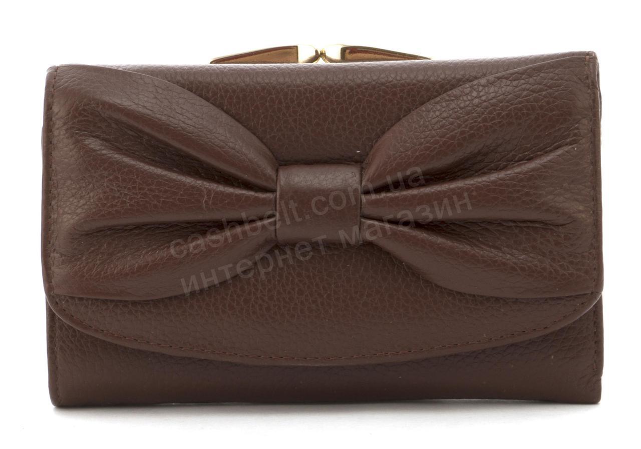 Небольшой женский кошелек с качественной натуральной кожи SALFEITE art.12196 коричневый