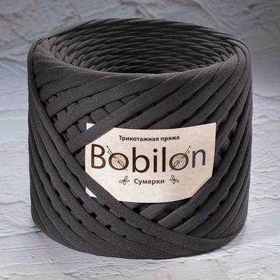 Трикотажная пряжа Bobilon Mini (5-7мм). Сумерки