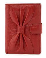 Небольшой женский кошелек бумажник с качественной натуральной кожи SALFEITE art.12200 красный, фото 1