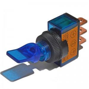 Тумблер ASW-14D PRK0016B 1 группа 2 положения ON-OFF Синий