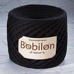 Трикотажная пряжа Bobilon Mini (5-7мм). Черный