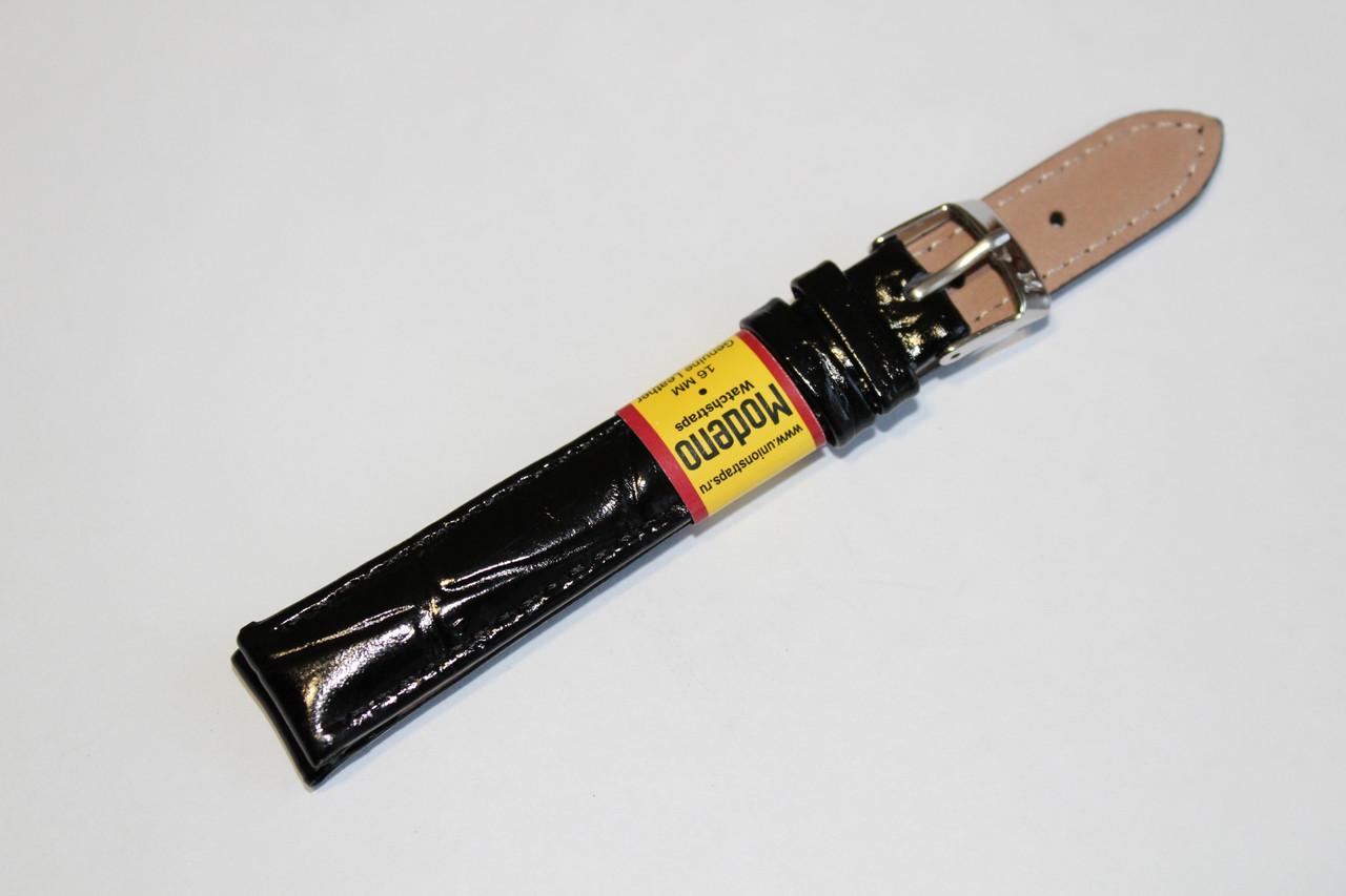 Ремешок для часов Modeno-кожаный ремень для часов черного цвета 14 мм.