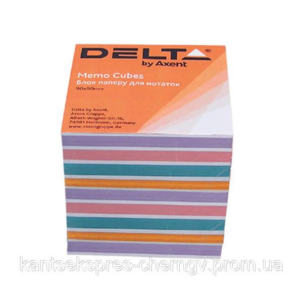 Бумага для заметок Delta Color D8025, 90х90х80 мм, непроклеенная