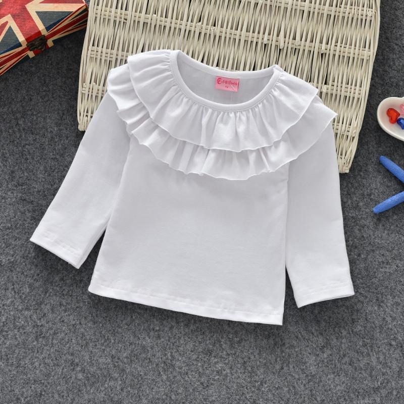 Блузки для девочек. Белая трикотажная блузка