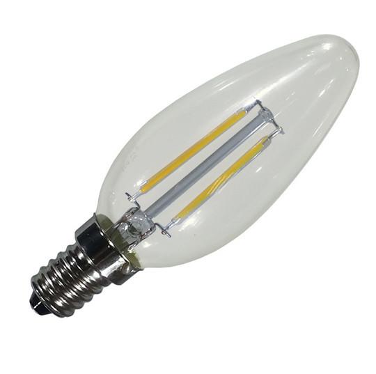 Filament LED лампа NEOMAX 4W E14 C37 (свеча) 3000К 400Lm