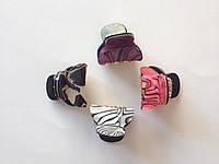 """Заколка (краб) """"Тигровый-мини"""" 2,5х1,5см (разноцветный), фото 1"""