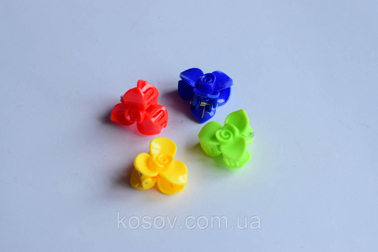 """Заколка (краб) """"Цветок №1"""" (разноцветный)"""