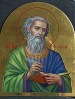 Сусальное золочение иконы Святого апостола Иоанна Богослова для хороса в храм.