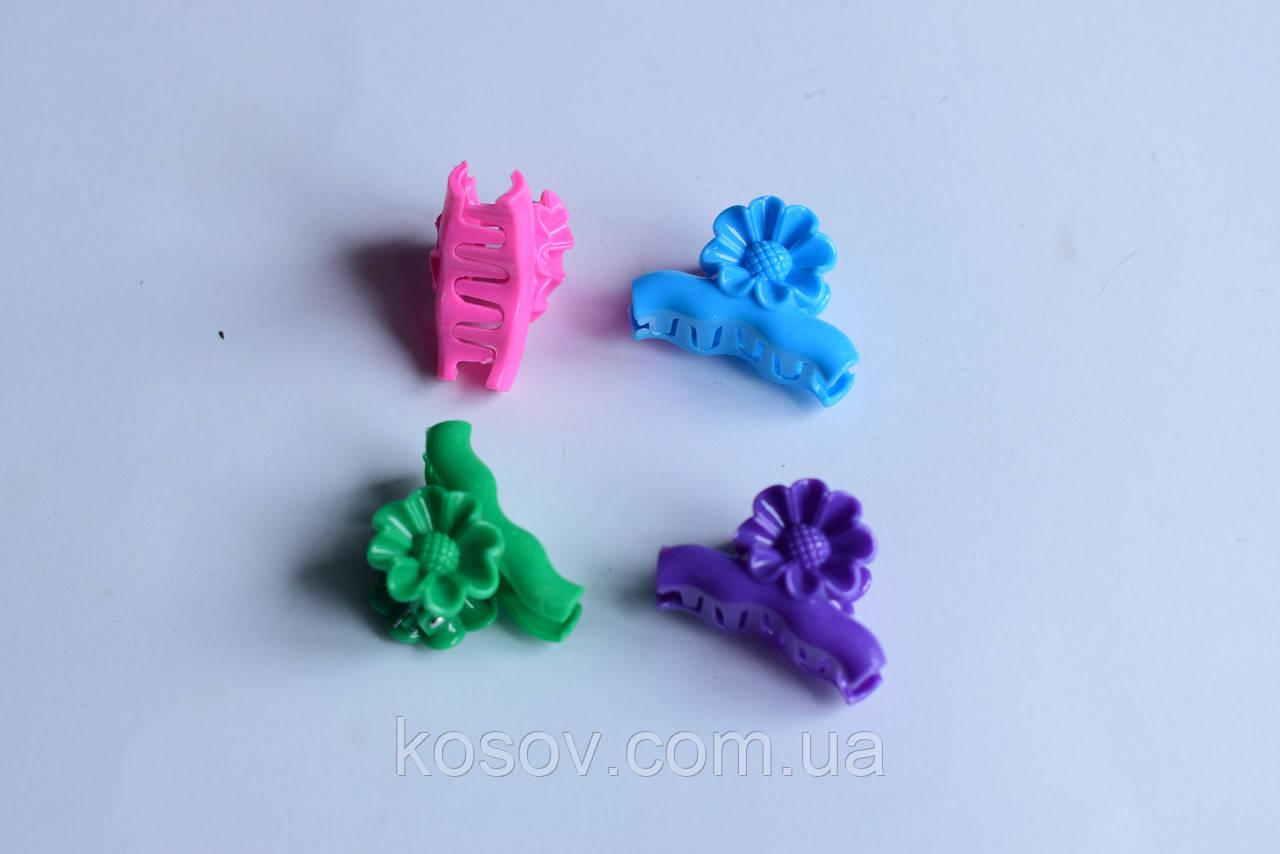 """Заколка (краб) """"Цветок №4"""" (разноцветный)"""