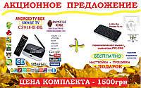 CS918-BL (CS918-II-BL) 4ядра 2гб DDR3 +ГИРОСКОП пульт +НАСТРОЙКИ I-SMART