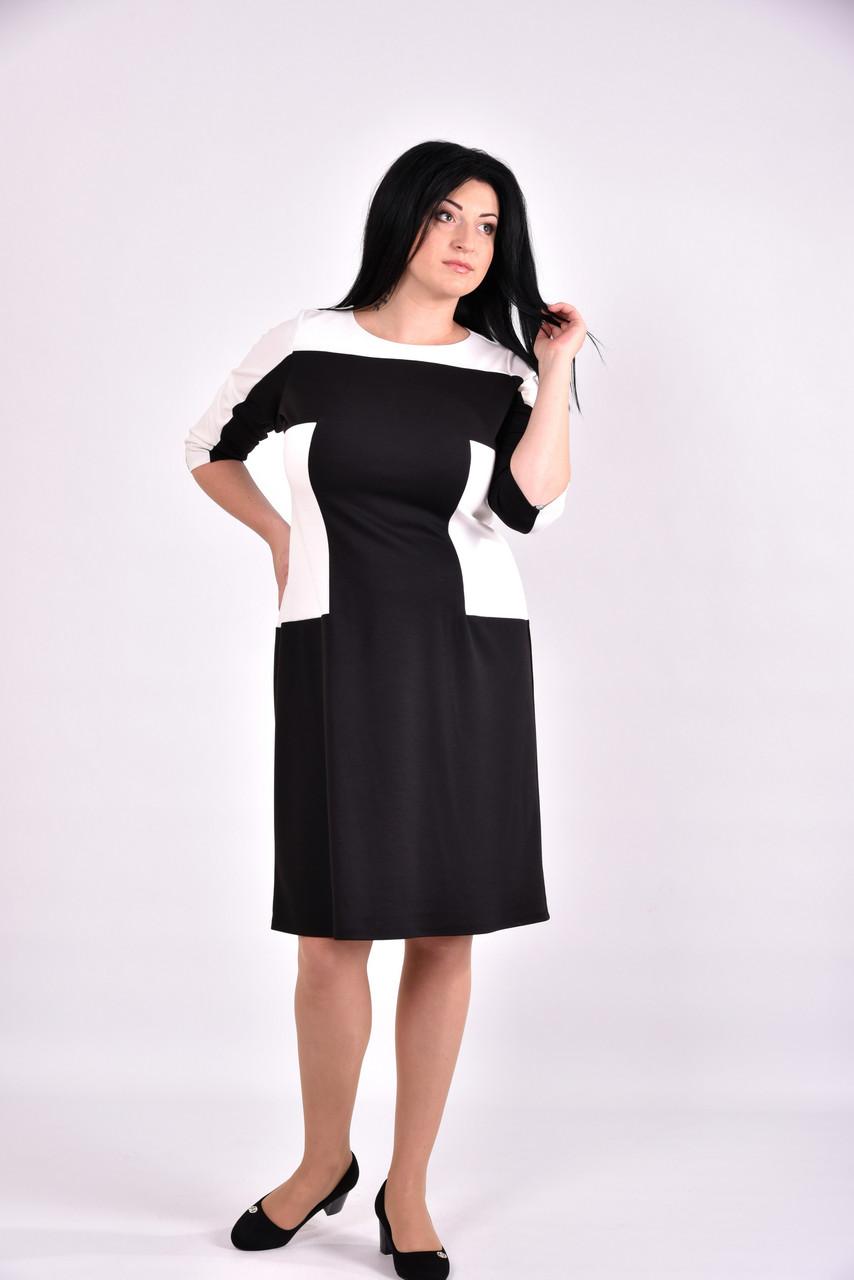 9b7dece218f7fe4 Черно-белое трикотажное платье формирующее таоию | 0595-1 - Онлайн 24 -  Женская