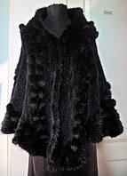 Палантин из вязаной канадской норки-цвет махагон-коричневый ширина-70см длина-175см