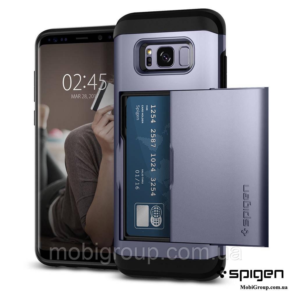 Чехол Spigen для Samsung S8 Slim Armor CS, Orchid Gray