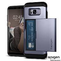 Чехол Spigen для Samsung S8 Slim Armor CS, Orchid Gray, фото 1