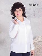 Женская классическая блуза цвет персик размер 42-52