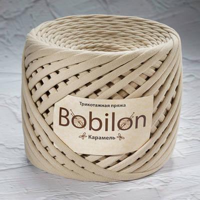 Трикотажная пряжа Bobilon Medium (7-9мм). Карамель
