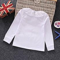 Блузки для девочек. Белая трикотажная блузка, фото 2