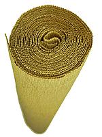 16А/11 (579) ИТАЛЬЯНСКАЯ ГОФРИРОВАННАЯ БУМАГА CARTOTECNICA ROSSI Золотая пшеница 50X250 СМ, фото 1