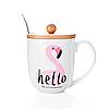 """Чашка с крышкой и ложкой """"Rose Flamingo"""""""