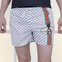 """Короткие мужские шорты на резинке """"GUССI"""" с карманами, фото 3"""