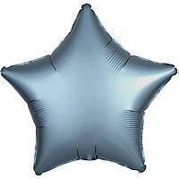 Гелиевый шар фольга серая звезда 45см Anagram