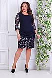 Модное молодежное платье Цветы в размерах 50-56, фото 2