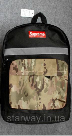 Рюкзак светоотражающий рефлектив Supreme logo | Оригинальная бирка