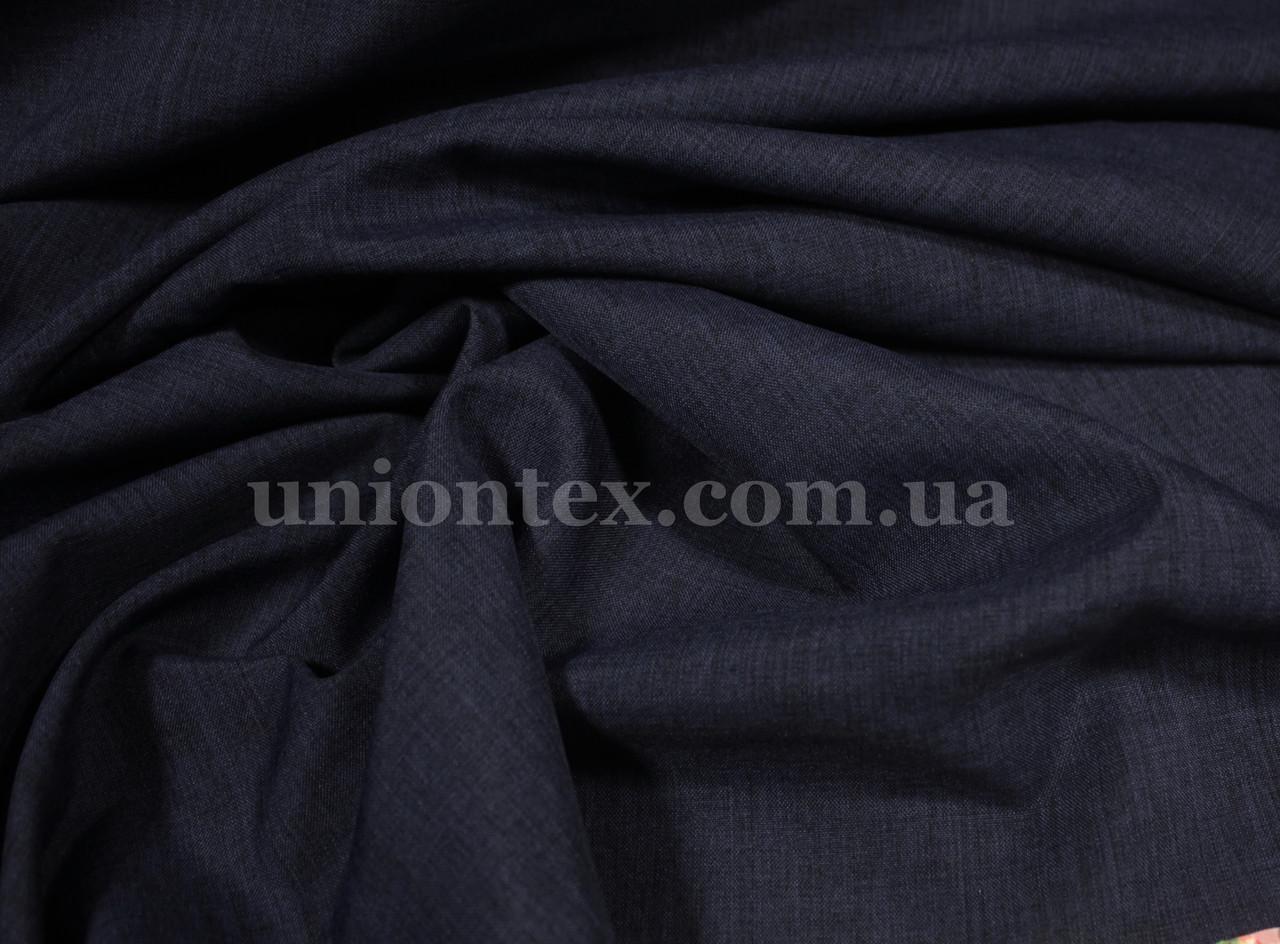 Лен габардин темно-синий