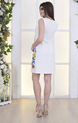 """Летнее мини-платье А-силуэта """"D&G"""" с цветочным принтом, фото 2"""