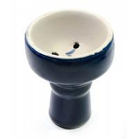 Чашка керамическая для кальяна синяя (d-6,h-7,5 см внутренний диаметр 23 мм)