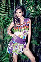 Цветное пляжное платье мини Iconique KA 3123 44(M) Цветной Iconique KA 3123
