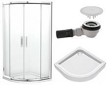 KOLO GEO6 GKPG90222003 Душевая штора 90х90 полукругл, стекло прозрачное