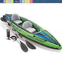 В наличии!!! Intex 68306 (76х351х38 см.) Надувная байдарка двухместная Challenger K2 Kayak
