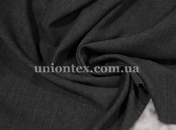 Лен габардин темно-серый, фото 2