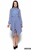 Платье с асимметричным низом Пейдж синий (S,M)
