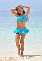 Купальник топ детский для плавания BAEL 5557 152 (11) Голубой