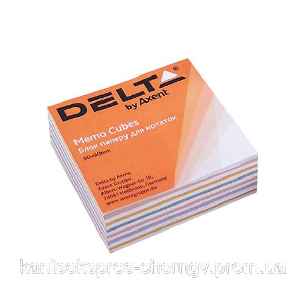 Бумага для заметок Delta Mix D8014, 90х90х30 мм, проклеенная