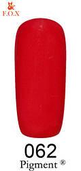 Гель-лак FOX № 062 (красный), 6 мл