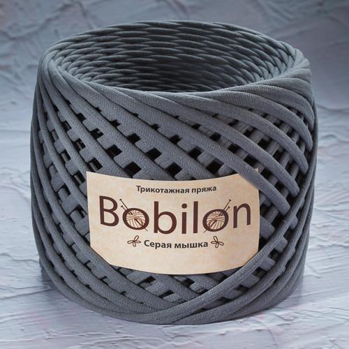 Трикотажная пряжа Bobilon Mini (5-7мм). Цвет Серая мышка