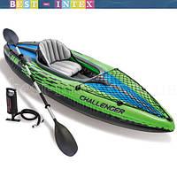 Intex 68305 (76х247х38 см.) Надувная байдарка Challenger K1 Kayak