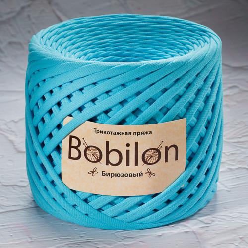 Трикотажная пряжа Bobilon Medium (7-9мм) Бирюзовый