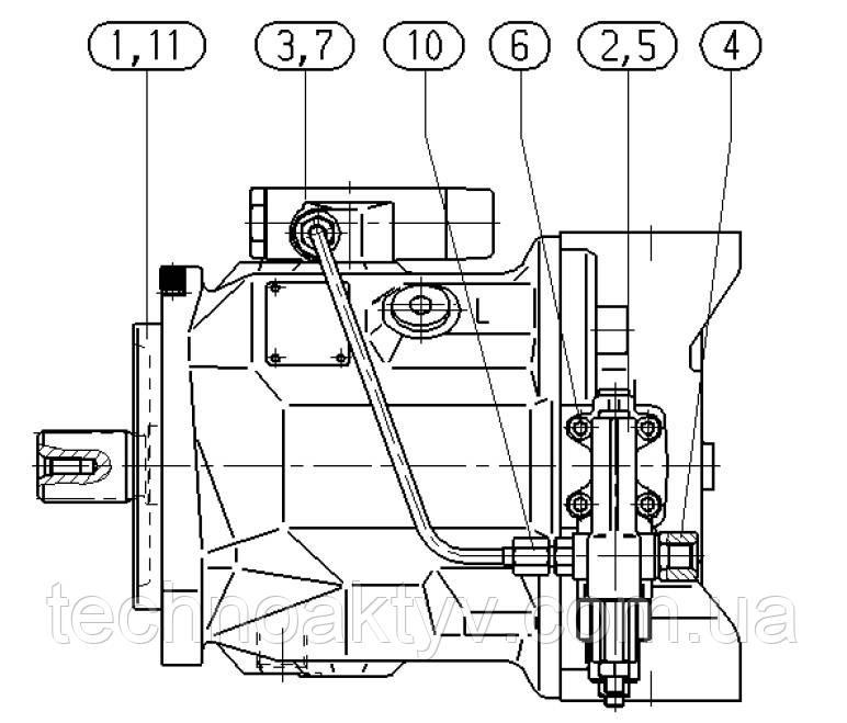 Гидронасос Bosch Rexroth A10VO - A10VO74DFLR-31R-VSC42N00 и его комплектующие