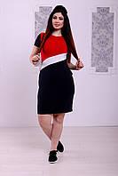 """Облегающее трикотажное мини-платье """"TH"""" с коротким рукавом (большие размеры)"""