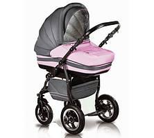 Универсальная коляска 2 в 1  Mars, Trans baby, т.серый+розовый
