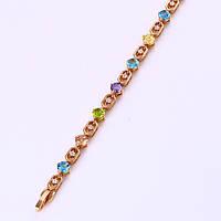 Позолоченный браслет Sofique с цветными фианитами 72331