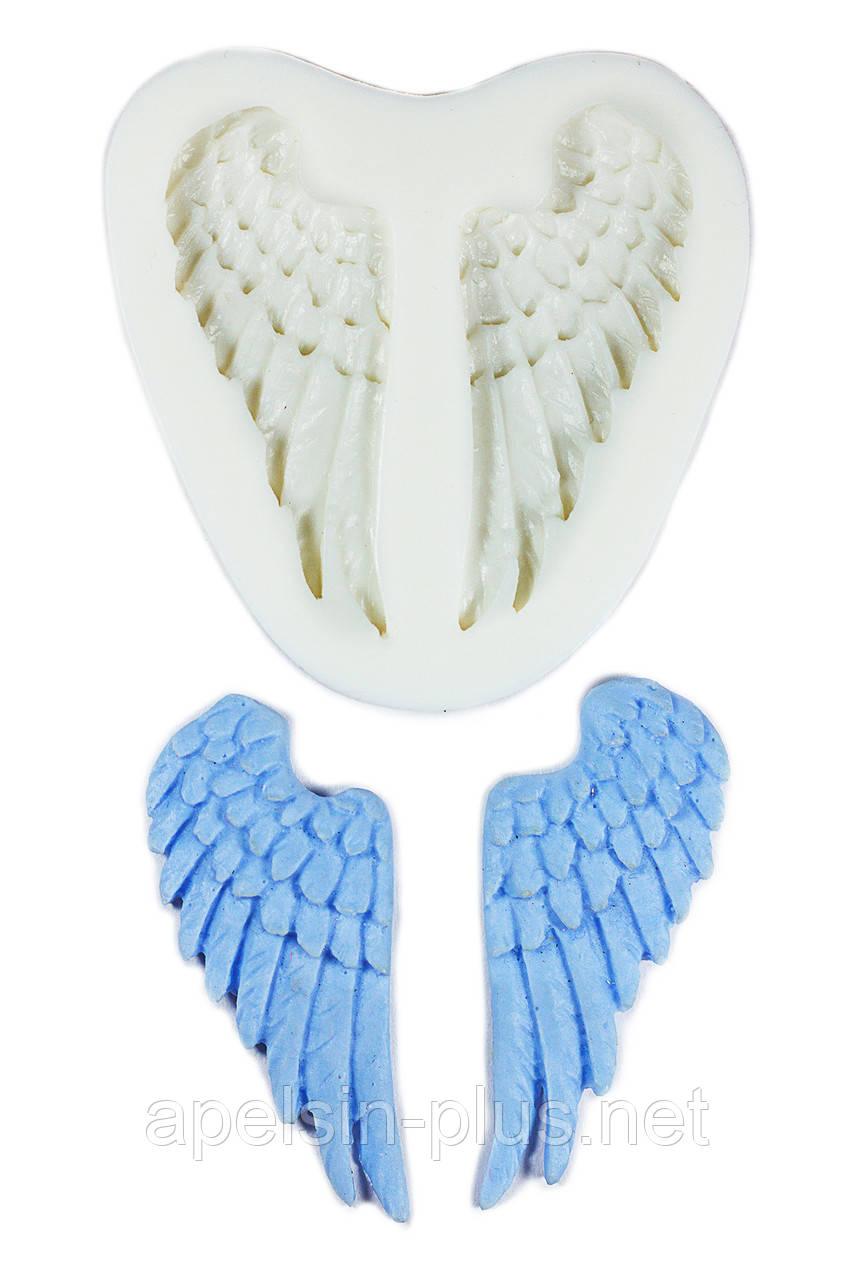 """Молд силиконовый """"Крылья Ангела"""" 6 см  2,7 см"""